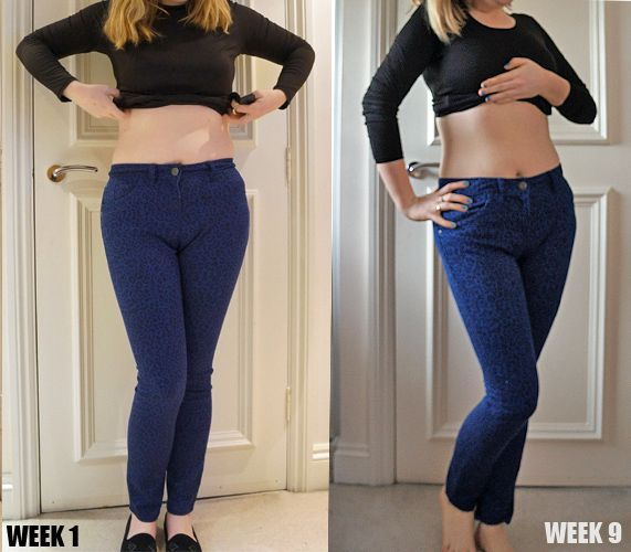 Fast diet results after 9 weeks on the stomach