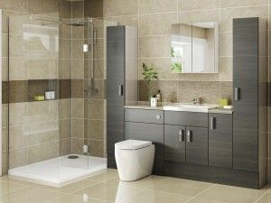 Avola grey bathroom furniture ideas. Fitted bathroom furniture made in uk, supplied by trade interiors