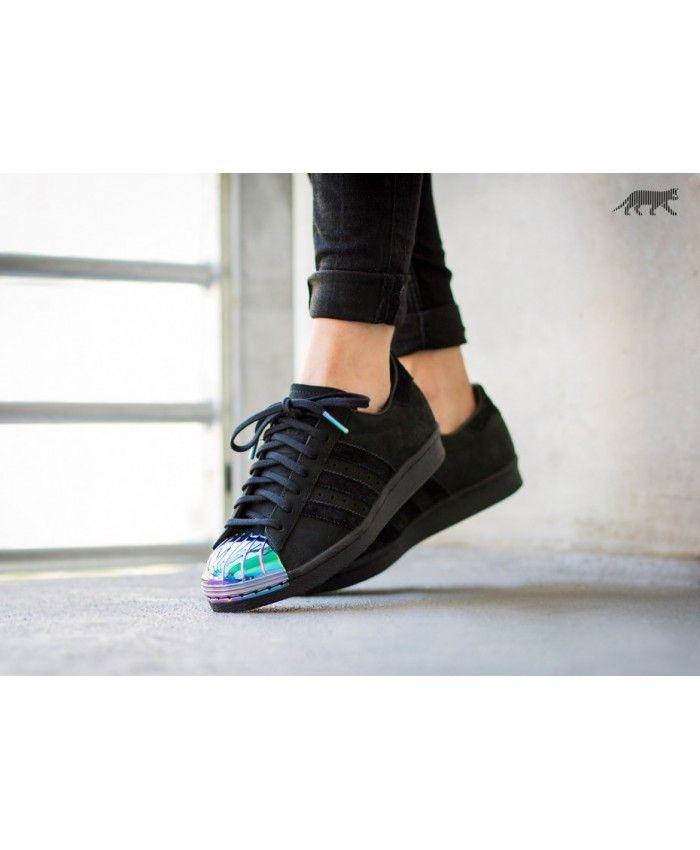 brand new 217e2 5778e Adidas Superstar 80S Metal Toe Core Black Trainers