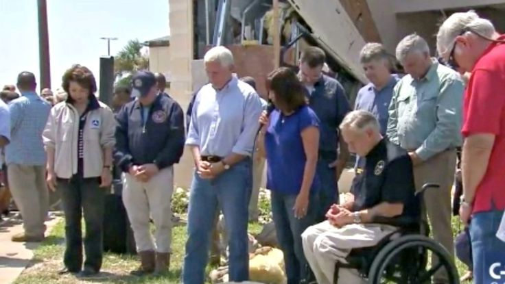 'Second Lady' Karen Pence Prayed to God at a Government Meeting Today, and No Texans Complained