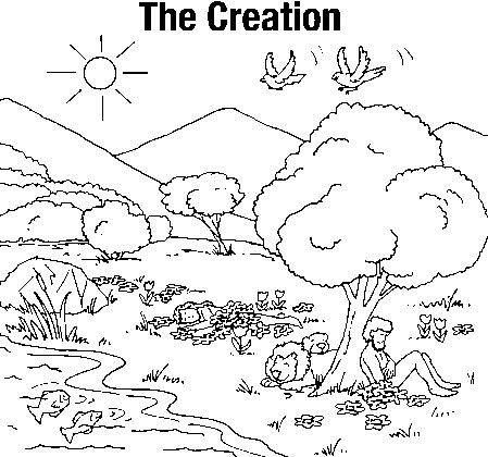 creation on garden of eden bible coloring pages