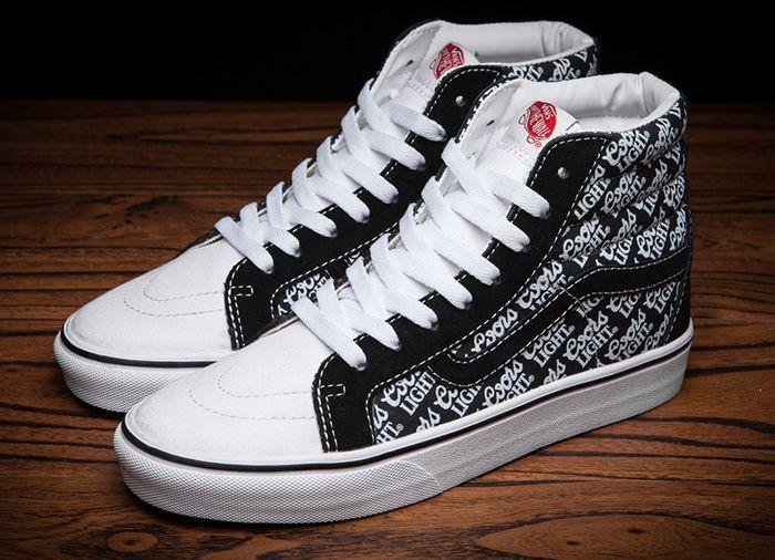 Coors Light X Vans Sk8 Hi Pro Black Skate Shoes Vans Vans Coolest Shoes Ever Vans Sk8 Hi Pro