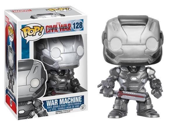 Funko Pop Marvel Captain America Civil War - War Machine Vinyl Bobblehead Figure #128