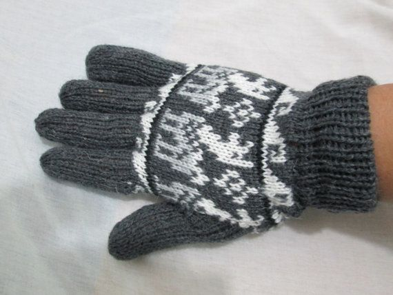 1 pair peruvian alpaca gloves pick color by peruvianplace on Etsy