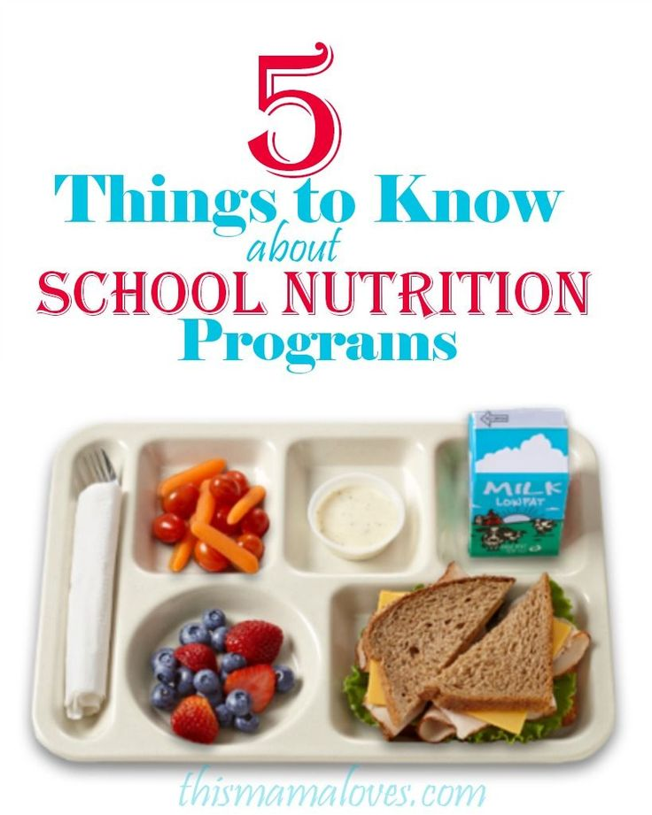 5 Things to Know About School Nutrition Programs #childnutrition,