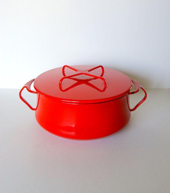 Dansk Kobenstyle Dutch Oven in Cherry Red - Made in Denmark - Designed by Jens Quistgaard
