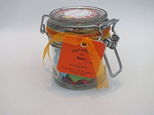 Perfect present for Valentine's Day. Special Gift for Mum on Mother's Day. *Love & Friendship* 31 Multi-coloured Quotes, Thoughts and Sayings in a glass jar to inspire loved ones every day for a month. Quotations for friends, family and special people in your life. Start your days with a smile. Re-usable Kilner type jar. For wife, sister, aunt, friend. Smiles by Julie http://www.amazon.co.uk/dp/B00Q7GOTJO/ref=cm_sw_r_pi_dp_WQF3ub0ATD4TK