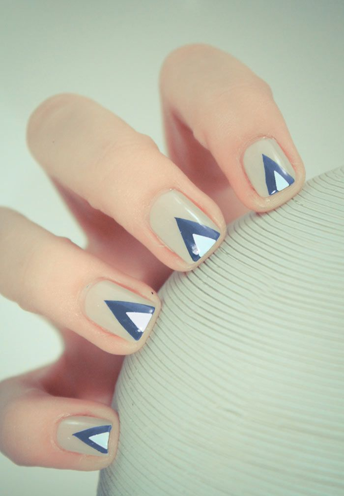 Unhas decoradas fáceis de triângulo