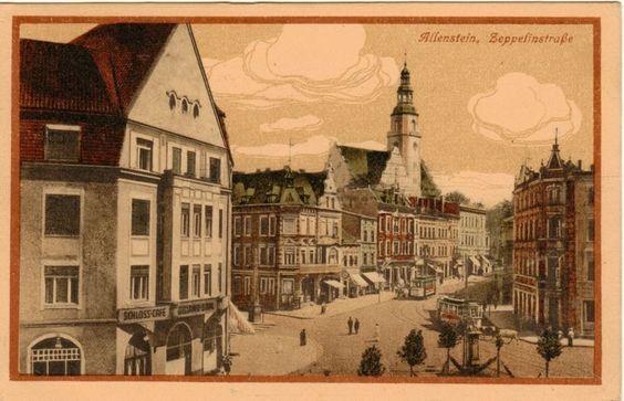 Allenstein-Olsztyn,Ostpreußen (Ermland Masuren) Zeppelinstraße 1917
