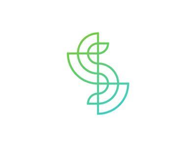 S line art letter mark logo design symbol by Alex Tass logo designer #Design Popular #Dribbble #shots