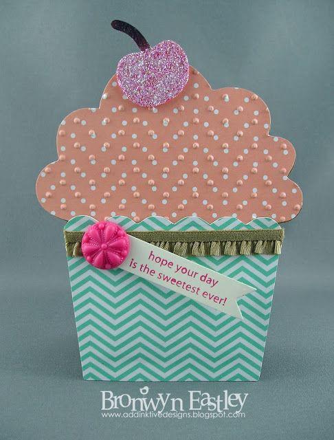 AddINKtive Designs Birthday Cupcake Gift Card Holder
