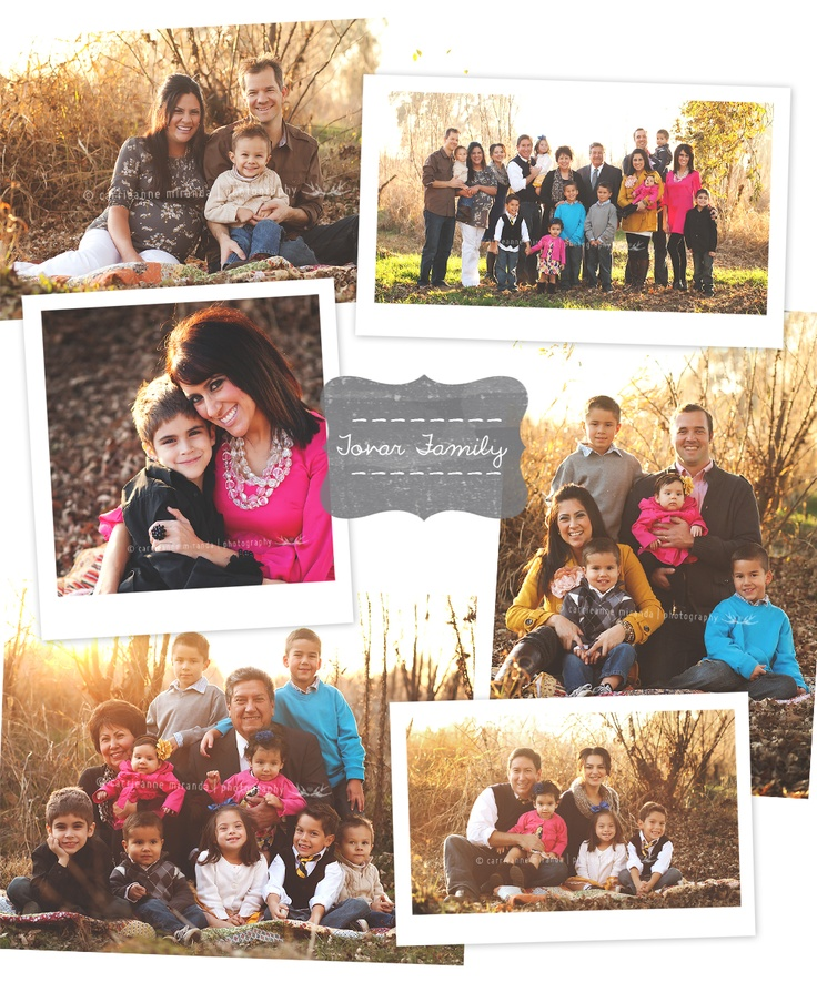 Great posing ideas for large families