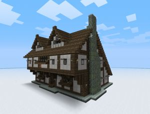 Cool house design to build a village and looks so awesome with that texture pack!