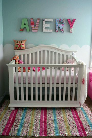 cute girls room.: Wall Colors, Scallops,  Cots, Nurseries Colors, Colors Rooms, Little Girls Rooms, Rooms Ideas, Nurseries Ideas, Kids Rooms
