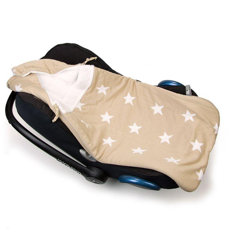 Baby's Only voetenzak ster beige / wit uit de online shop van Babyaccessoires.eu. In allerlei kleuren.