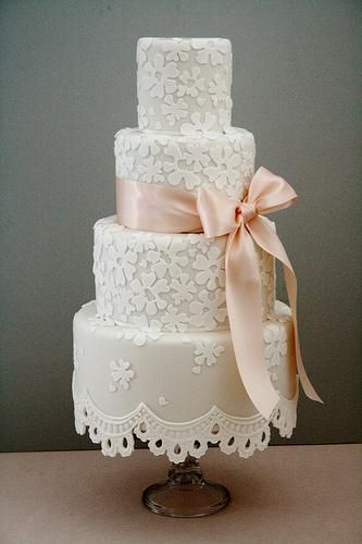 Wedding Cakes - Lace Fringe Wedding Cake #1987509 - Weddbook
