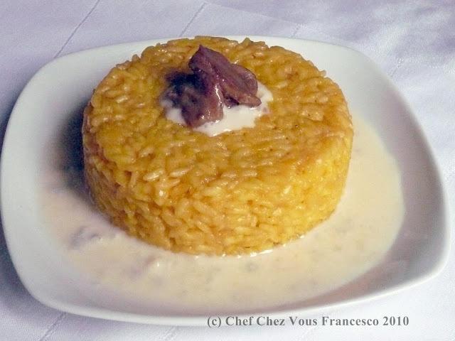 FrChefchezvous: Timballino di riso ai funghi porcini e gorgonzola