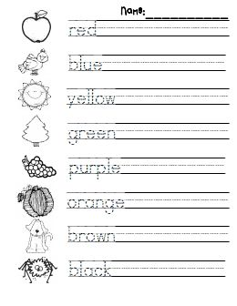 Handwriting worksheets for kindergarten pdf
