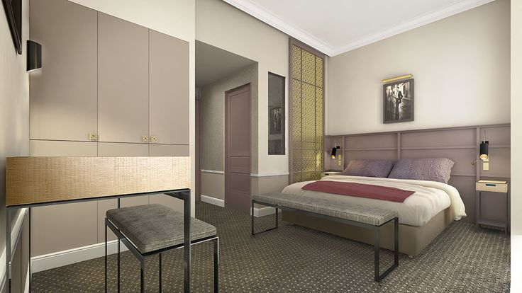 Hotel La Tamise - Paris - Reopening - A guest room #boutiquehotelparis #calmhotelparis