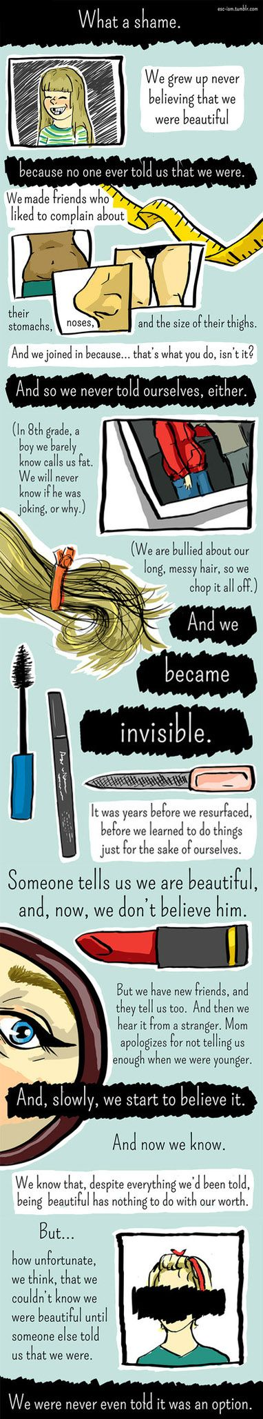Our outer beauty does not define us