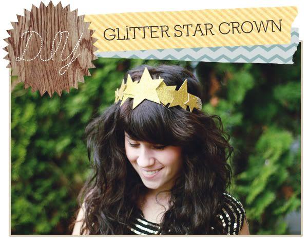 Delightfully Tacky: DIY: Glitter Star Crown
