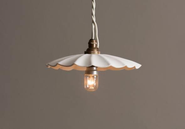 Large Wide Pleat Porcelain Pendant Light Pendant Lighting Light Accessories