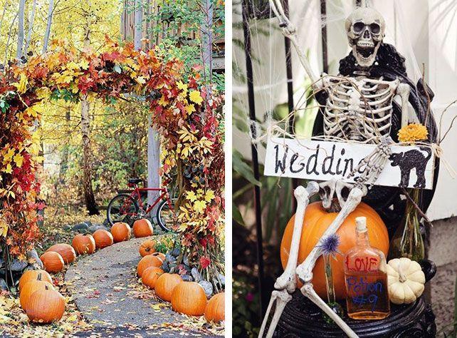 Декор для свадьбы в тематике Хэллоуин