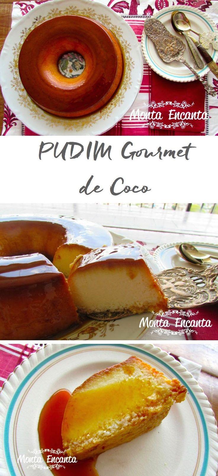 Como preparar um delicioso Pudim Gourmet de Coco, cremoso com sabor valorizado pela baunilha em fava e coco natural fresco.