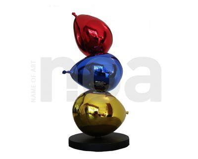 "Philippe BERRY, bronze argent polychrome 3/4 ex ""trois Balons"""