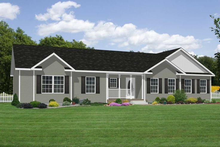66 best exteriors images on pinterest for Classic ranch homes