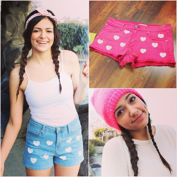DIY Heart printed shorts  My Valentine's Day Essentials! Macbarbie07❤