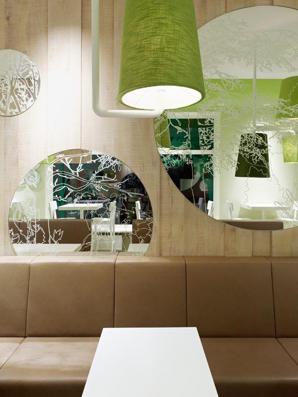 Wienerwald Restaurant Design 11 Fresh Restaurant Design Displaying Bold Natural Colours and Fun Forest Graphics