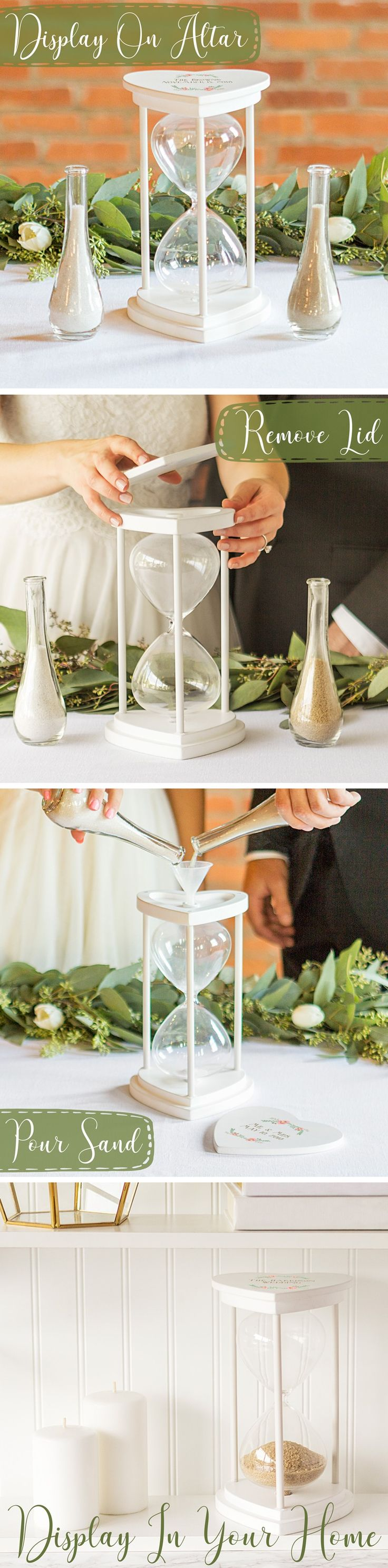 124 best ceremony decoration ideas images on pinterest wedding floral design personalized hourglass wedding unity sand ceremony set reviewsmspy