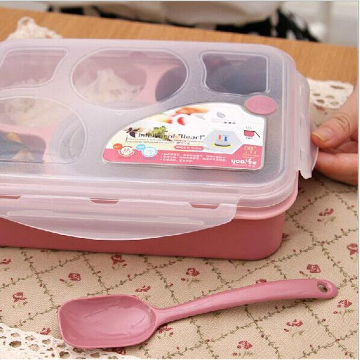 Hot Sale 5+1 Food Container Storage Box Single Children Lunch Box With Spoon Portable Microwave Bento Lunch Box for Kids