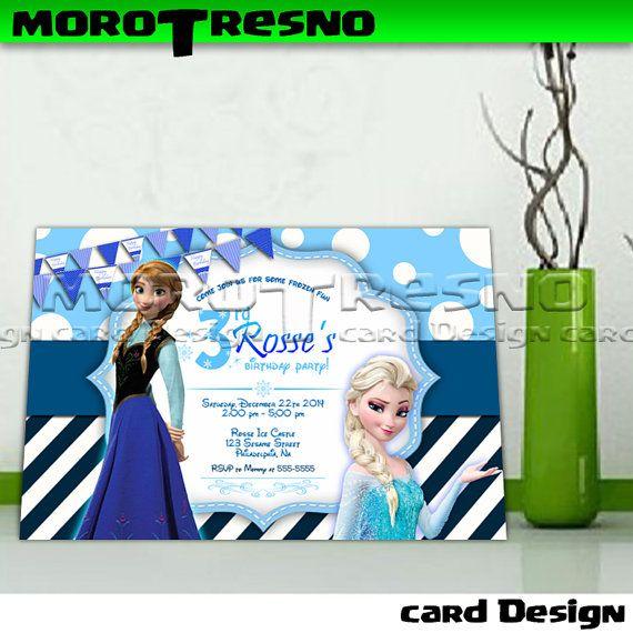 Frozen Girl Birthday Invitation Landscape copy - Invitation Card