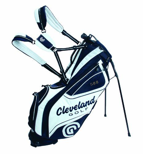 Cleveland Golf Tour Stand Bag, White/Navy