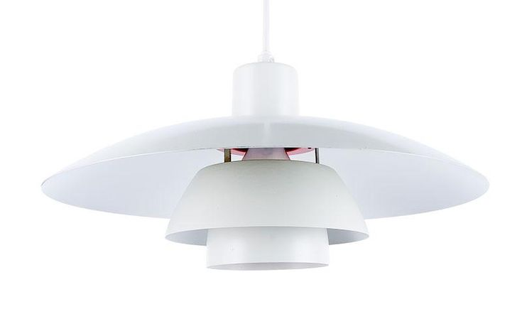 Lampa sufitowa PH 4/3 proj. Poul Henningsen, 1958 r., Louis Poulsen aluminium; wys. klosza 20 cm, szer. 40 cm Estymacja: 800 - 1 100 zł