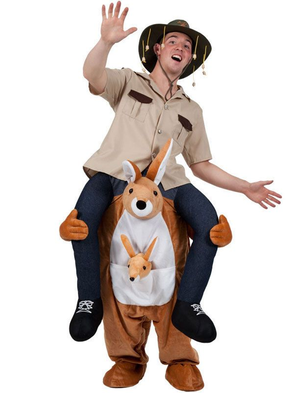 Carry Me Kangaroo Ride On Piggy Back Mascot New Fancy Dress Costume Australian | eBay