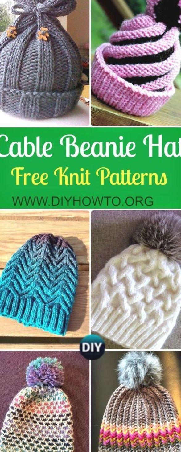 Knit Cable Beanie Hat Free Patterns Knit Winter Hat Knit Horse Shoe Stitch Hat Knit Thi Knitting Patterns Free Hats Knitted Hats Kids Cable Knit Hat Pattern