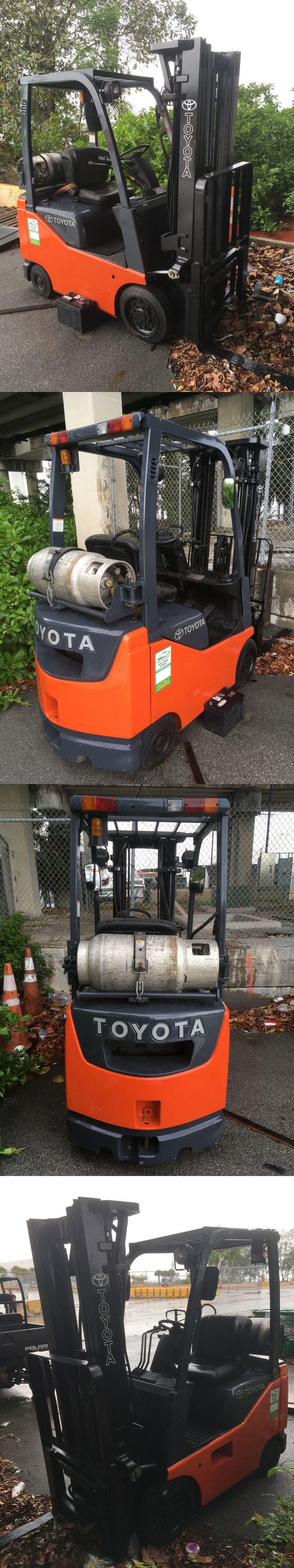 heavy equipment: 2016 Toyota Forklift 8Fgcu15 -> BUY IT NOW ONLY: $10900 on eBay!