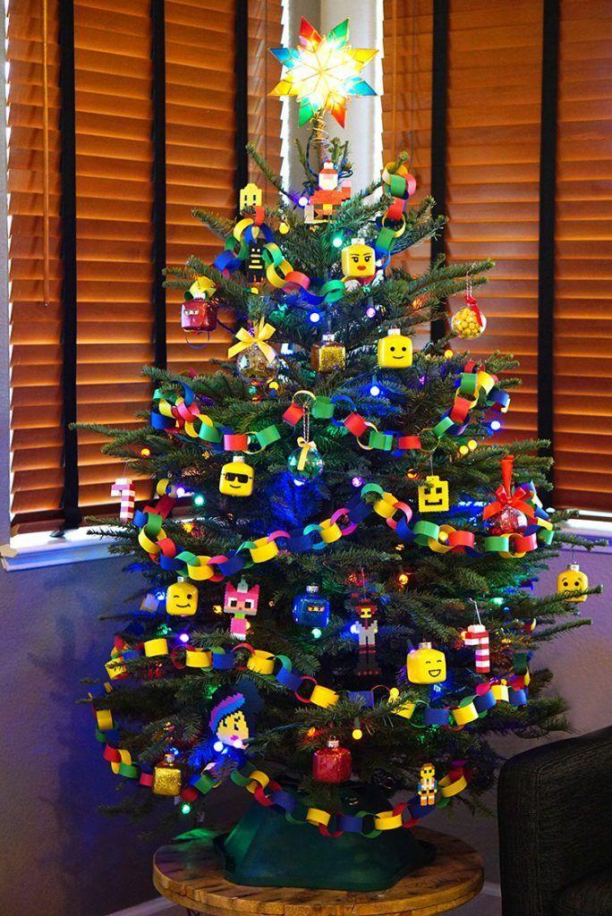Kids' LEGO Themed Christmas Tree