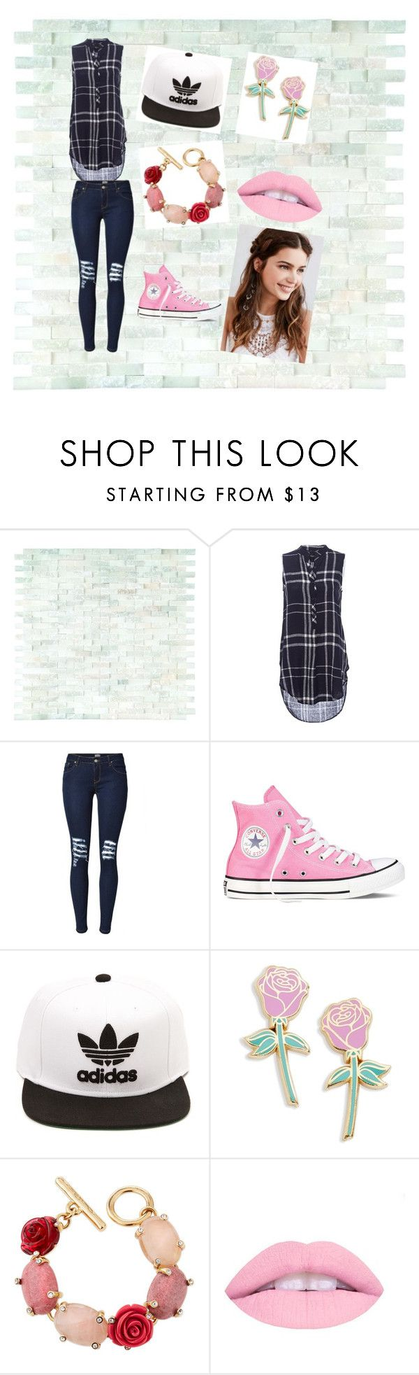 """""""country outfit"""" by raniadayaa ❤ liked on Polyvore featuring Converse, adidas, Big Bud Press, Oscar de la Renta, REGALROSE, country, women, polyvorfashion and countryoutfits"""