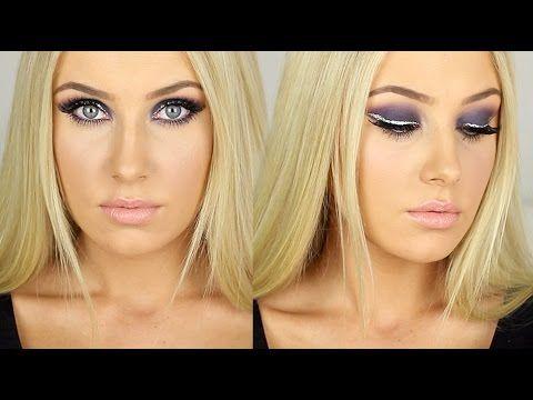 SUPER GLAM - Purple/Pink Smokey Eye + Glitter Winged Liner!  // Lauren Curtis YouTube