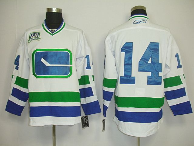 vancouver canucks 14 alex burrows third 40th white jersey