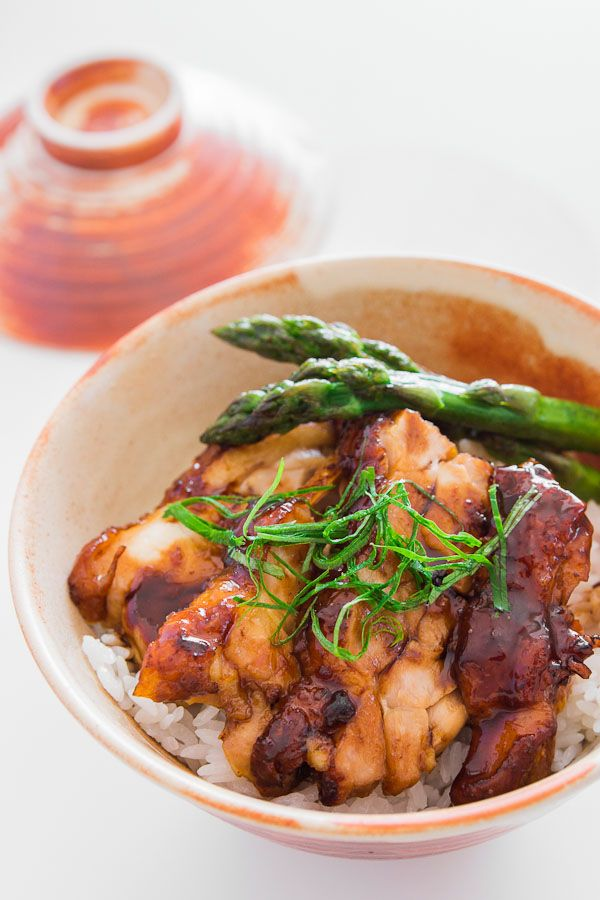 Chicken Teriyaki Rice Bowl 13040206 ~ A simple pan-fried chicken teriyaki lacquered in a shiny sweet soy sauce glaze. Prep about 30 min ahead of cooking. Could even do overnight.