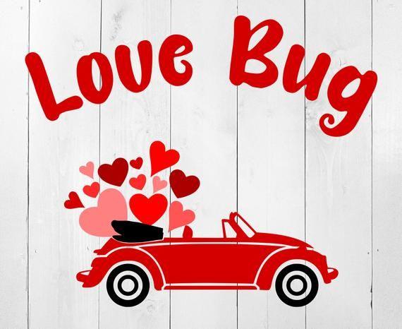 Download Love Bug SVG Valentine SVG Valentine Heart Svg Red Car Svg ...