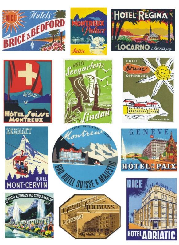 20 best Trunk labels images on Pinterest | Vintage travel posters ...