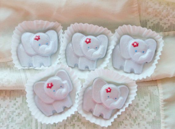 24 Baby Elephant cupcake toppers by candycottage on Etsy
