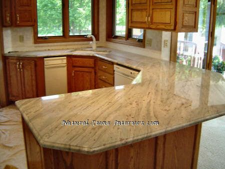 There are three different types of granite for kitchen counter tops: granite tiles, modular granite and slab granite.