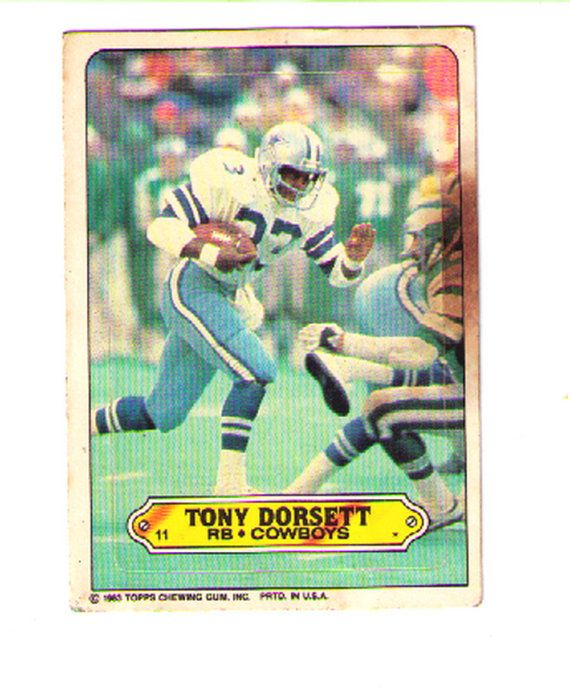 Football Card - Topps Card - Tony Dorsett - Vintage Football Player Autograph - Sports Autograph